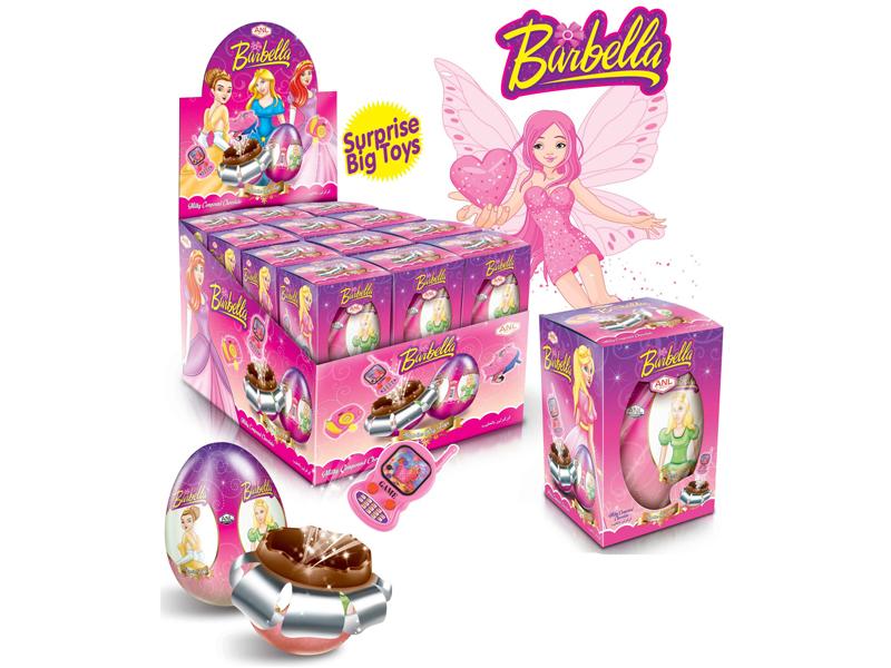 labudovic-čokoladna jaja sa igračkom-barbella jaja sa igračkom 60gr