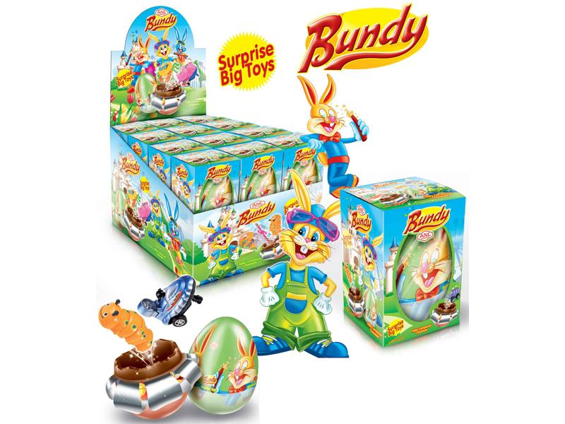 labudovic-čokoladna jaja sa igračkom-bundy jaja sa igračkom 60gr