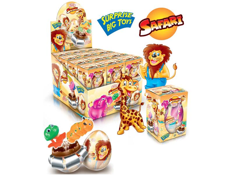 labudovic-čokoladna jaja sa igračkom-safari jaja sa igračkom 60gr
