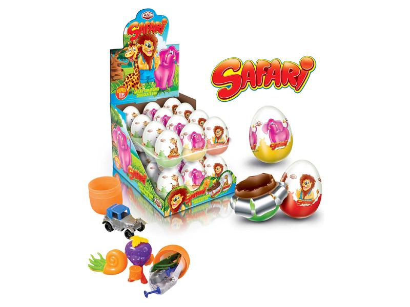 labudovic-čokoladna jaja sa igračkom-safari jaje sa igračkom 25gr