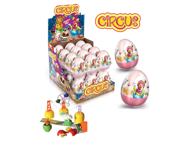 labudovic-chocolate suprise eggs with toys-cirkus surprise egg with a toy 25g