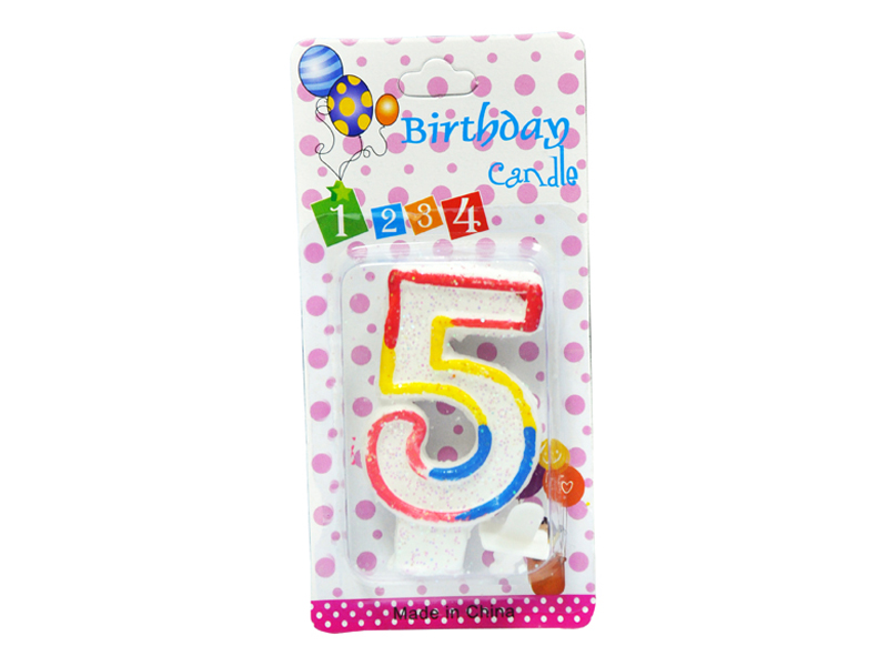 labudovic-party program eng-Birthday Candles Number 5