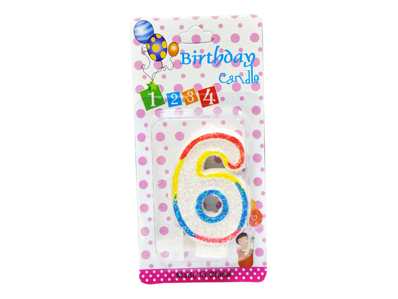 labudovic-party program eng-Birthday Candles Number 6