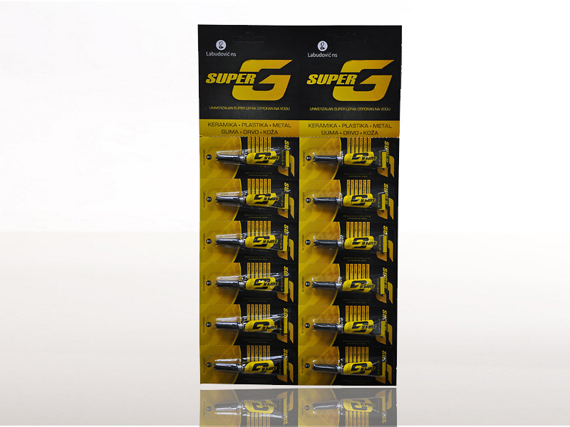 labudovic-super lepak eng-Super G Super Glue 3g 12-1 Package