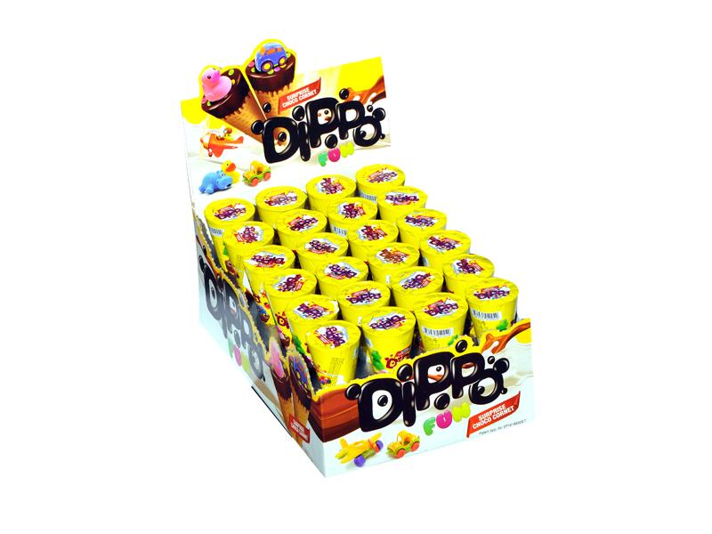 labudovic-cokoladni korneti eng-DIPPO Chocolate Cornets With A Toys
