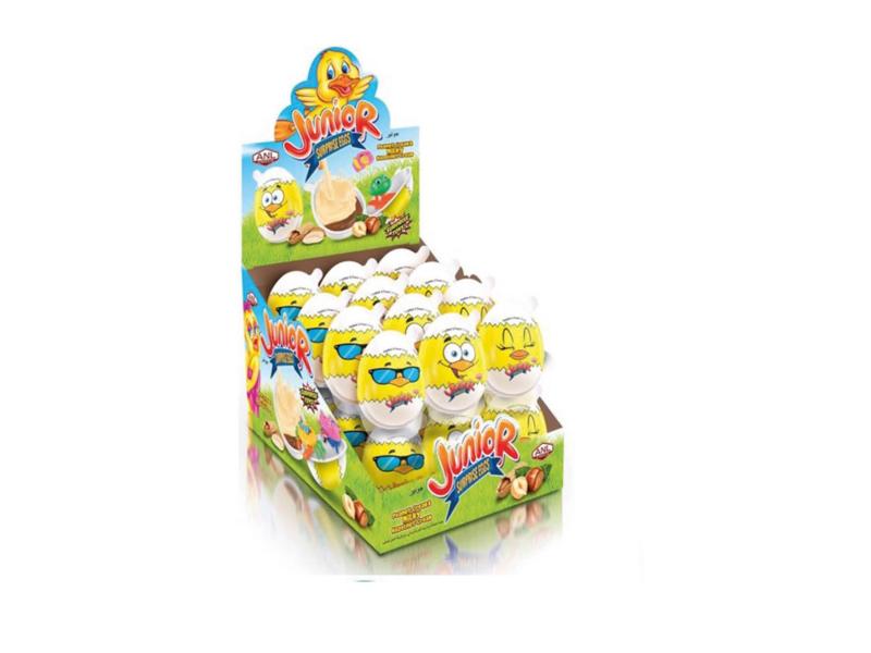 labudovic-cokoladna jaja eng-JUNIOR Surprise Plastic Egg With A Toys And Cream From Hazelnut 15g