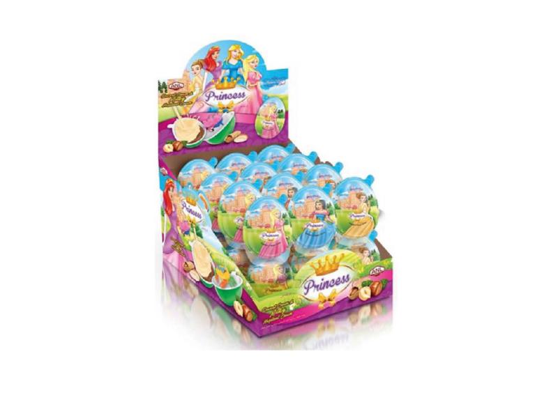 labudovic-cokoladna jaja eng-PRINCESS Surprise Plastic Egg With A Toys And Cream From Hazelnut 15g