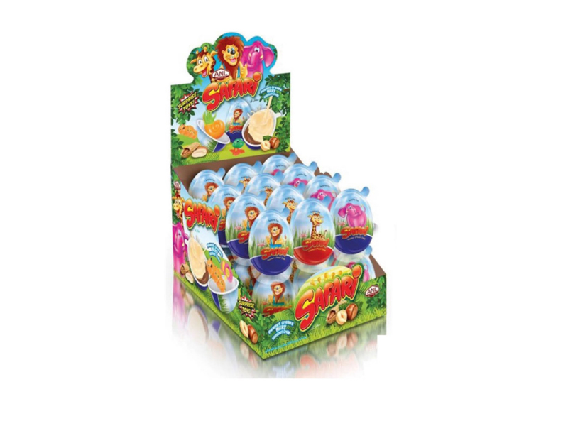 labudovic-cokoladna jaja eng-SAFARI Surprise Plastic Egg With A Toys And Cream From Hazelnut 15g