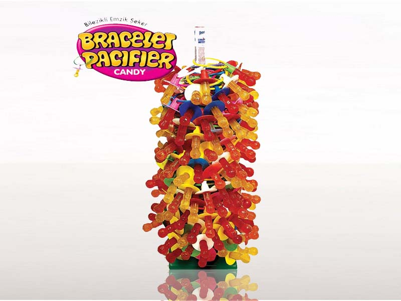 labudovic-lizalice i zvake eng-Lollipop In Shape Of Pacifier On The Stick 8g