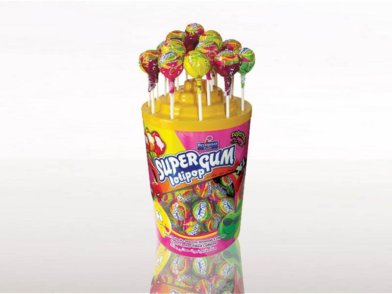 labudovic-lizalice i zvake eng-SUPER GUM Lollipop 18g