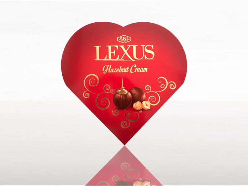labudovic-bombonjere eng-LEXUS Box Of Chocolate In The Shape Of A Heart With A Taste Of HAZELNUT 110g