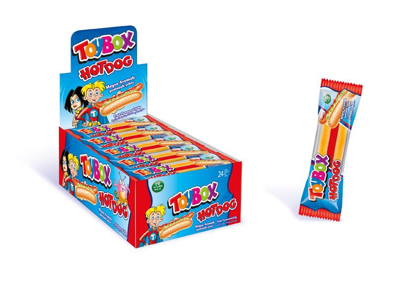 labudovic-toybox-Toy Box gumene bombone Hot Dog 20g